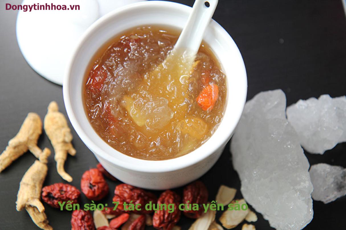 Yến sào thực phẩm vàng của đông y: 7 tác dụng của yến sào.